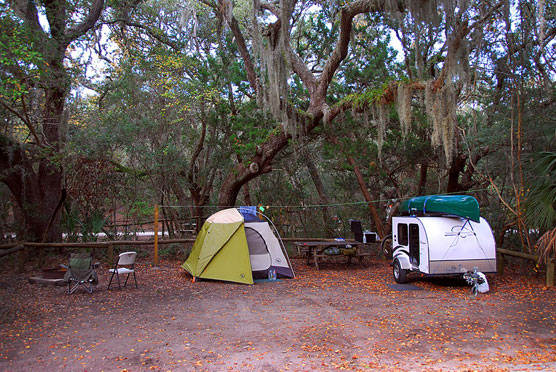 Fort Clinch Campsite