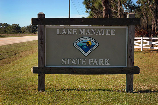 Lake Manatee Sign
