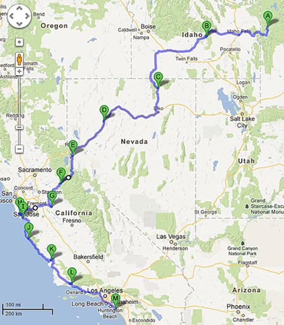 2013 Photo Trip Itinerary Campsite Photos