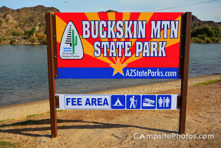 Buckskin Mountain State Park Sign