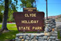 Clyde Holliday State Park Sign
