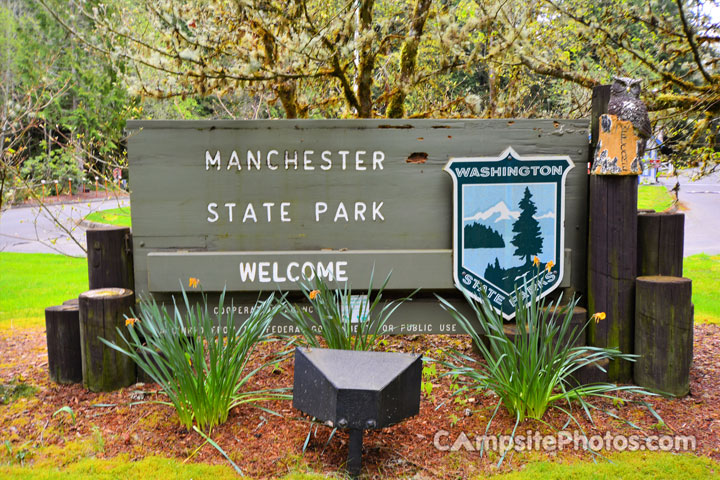 Manchester State Park Sign