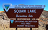 Squaw Lake Sign