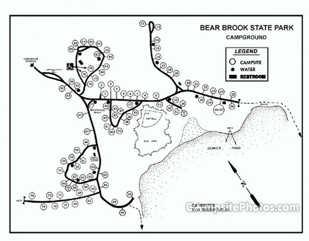 Bear Brook State Park - Campsite Photos, Camp Info & Reservations on hiking map, bear brook trail race, dogtown gloucester ma bike trail map,