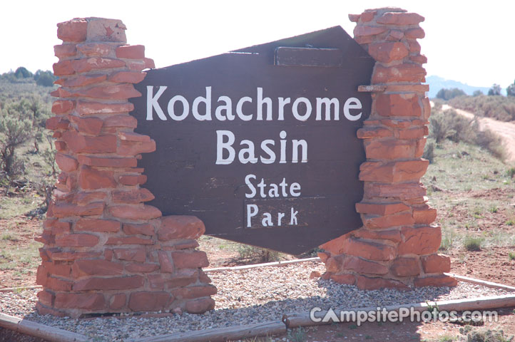 Kodachrome Basin State Park Sign