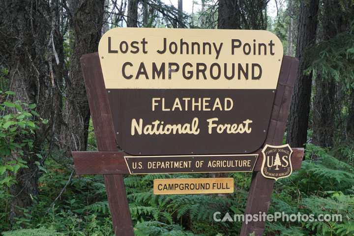 Lost Johnny Point Campground Sign