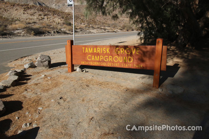 Tamarisk Grove Sign