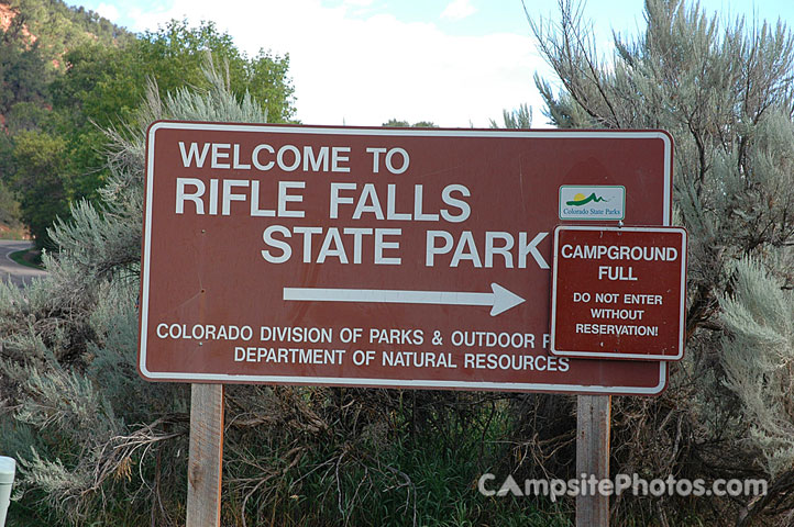 Rifle Falls Sign