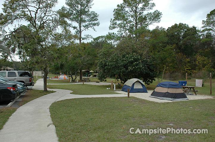 Rainbow Springs State Park Tent Sites 54-60 & Rainbow Springs State Park - Campsite Photos