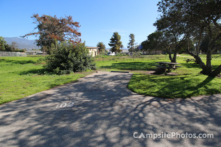 Carpinteria State Beach Campground In Santa Barbara County