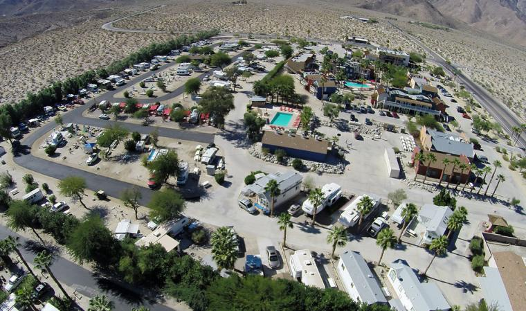 Palm Canyon Rv Resort Hotel Aerial View