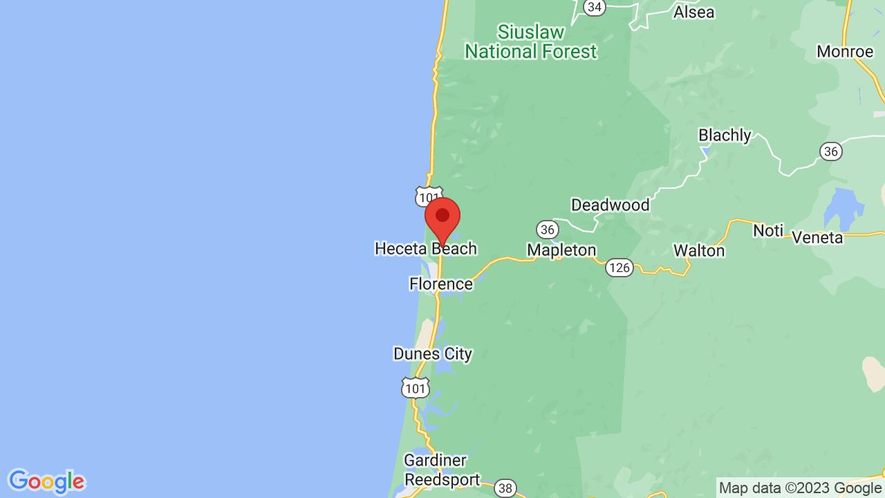Deadwood Oregon Map on