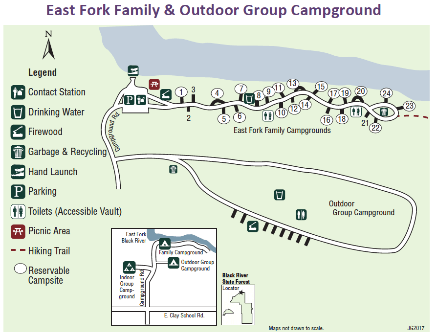 Black River State Forest East Fork Campground Campsite