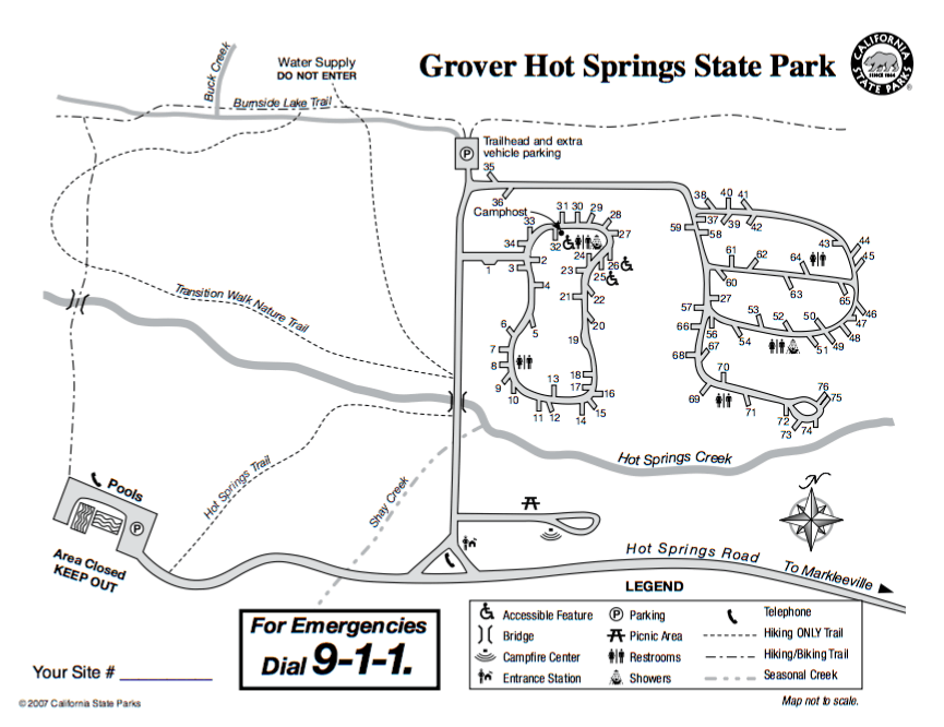 Grover Hot Springs State Park - Campsite Photos and Reservations