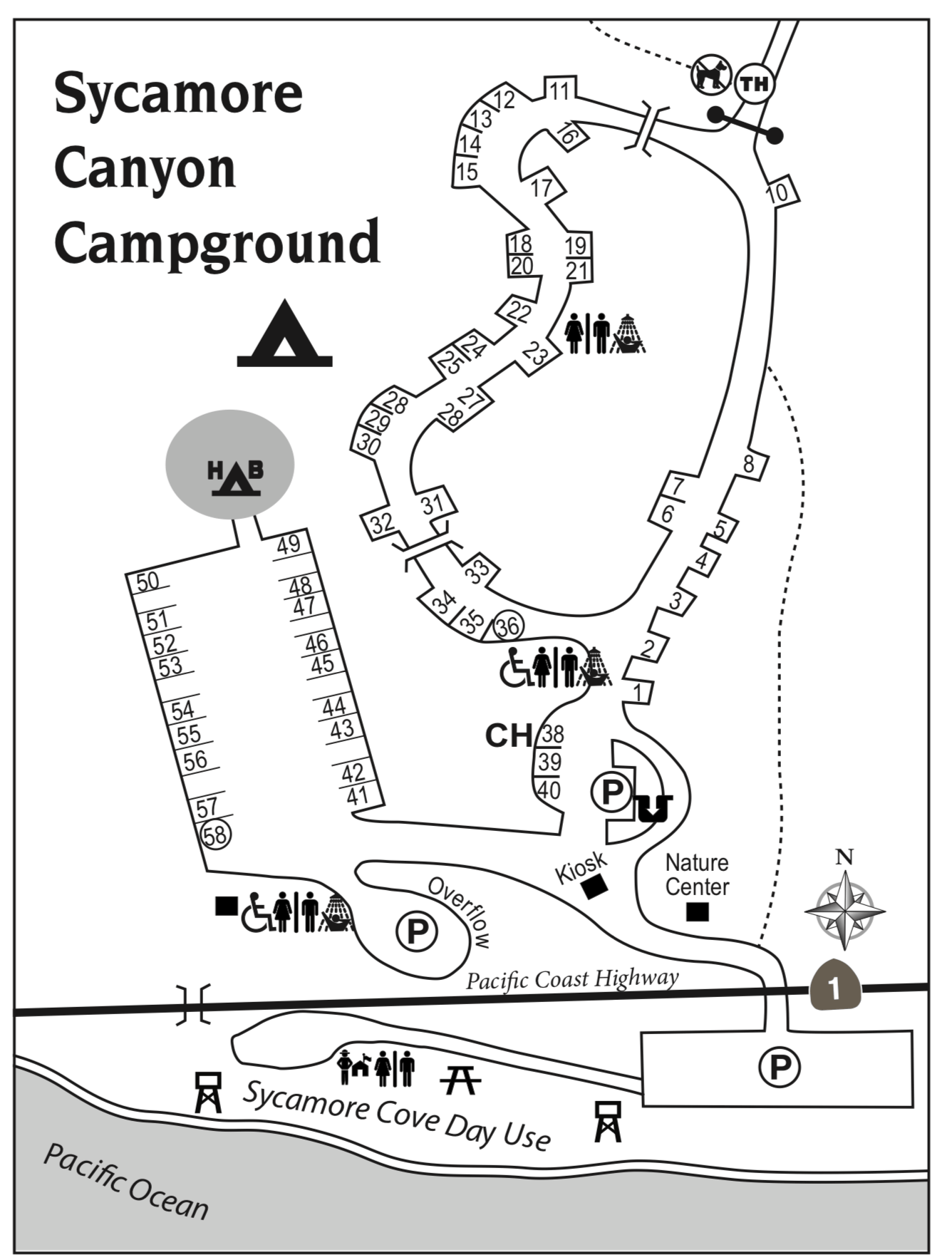 Point Mugu California Map.Sycamore Canyon Campsite Photo And Camping Information