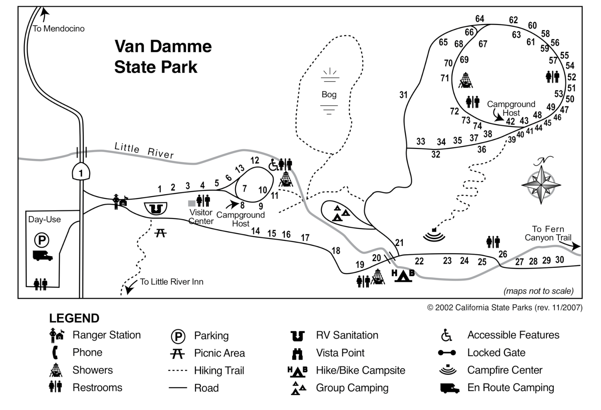 Van Damme State Park Campsite Photos And Camping Information