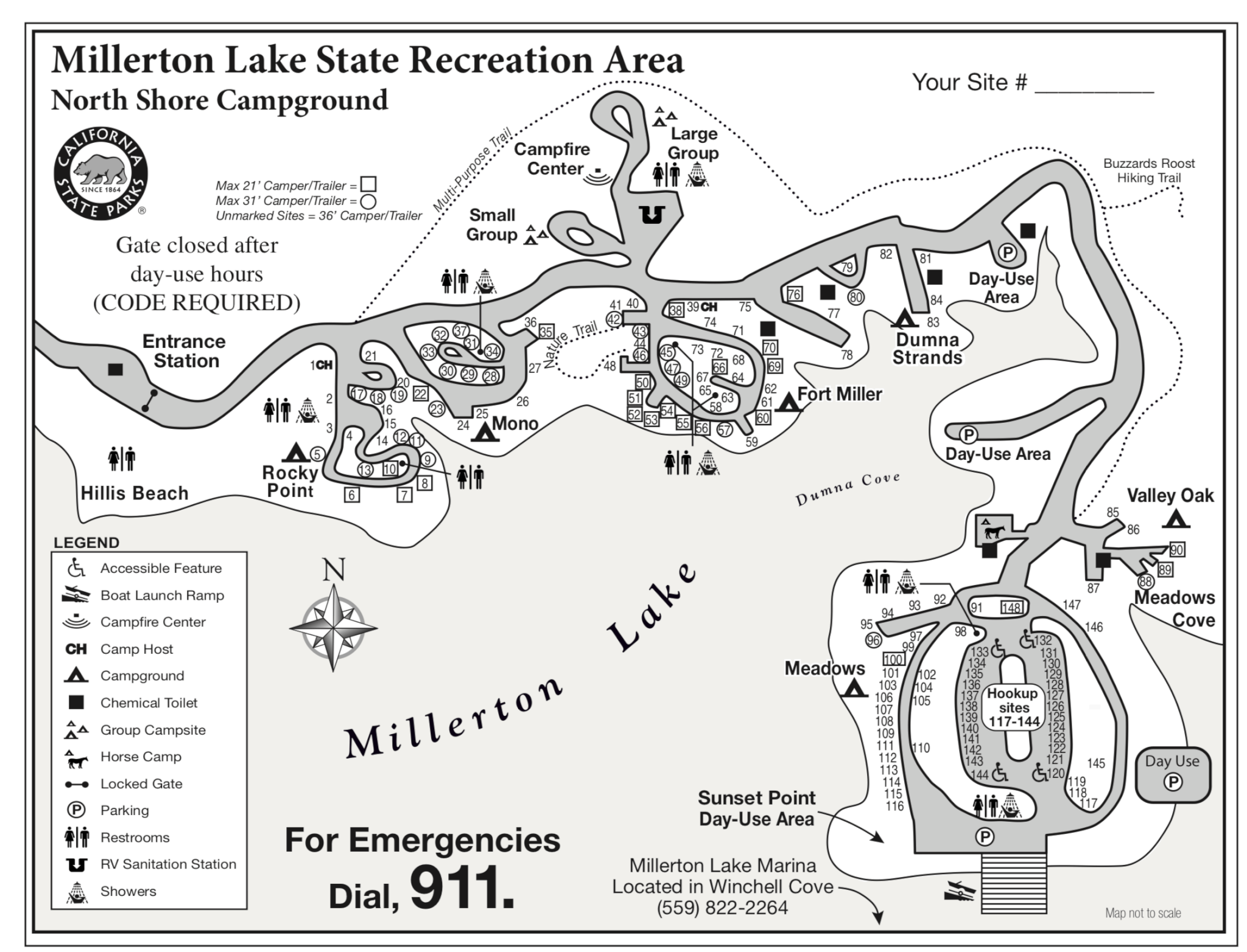 Millerton-Lake-Campground-Map-1 Map Of Northern California on map of phoenix 101, map of california coast, map of oregon 101,