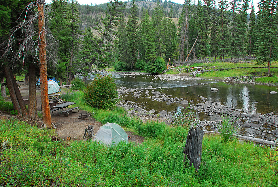 Yellowstone National Park Campsite Photos_Slough Creek View