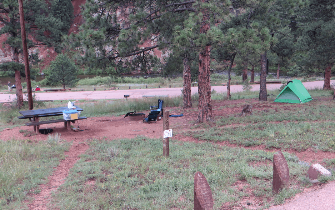 Lone Rock & Esterbrook campgrounds - Campsite View