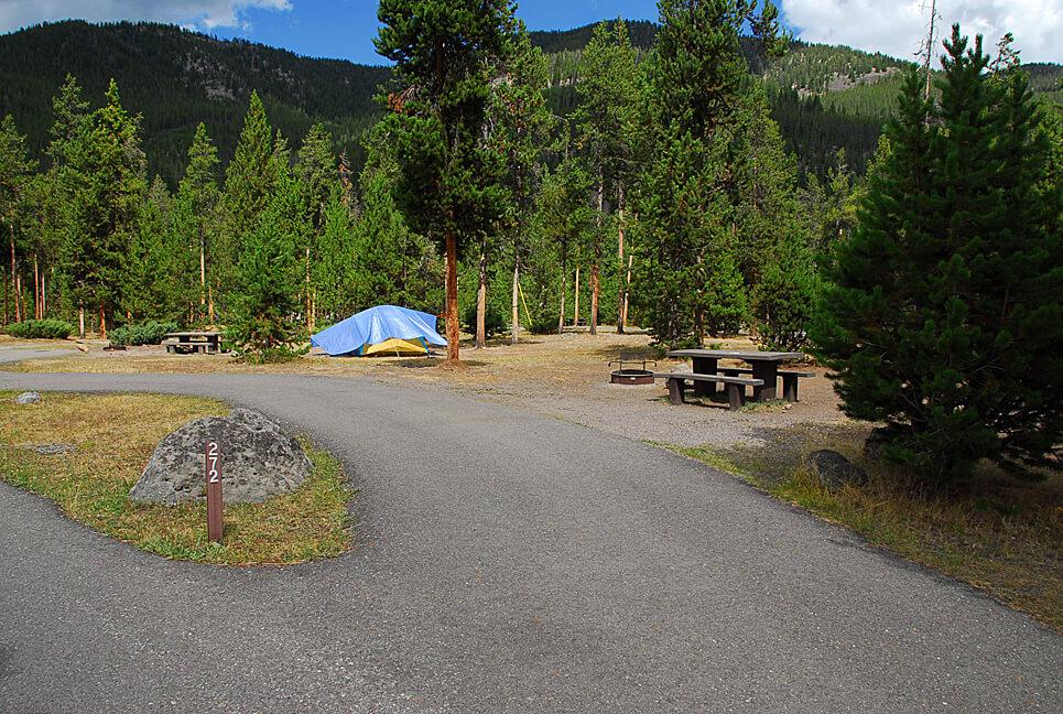 Yellowstone National Park Campsite Photos _Madison