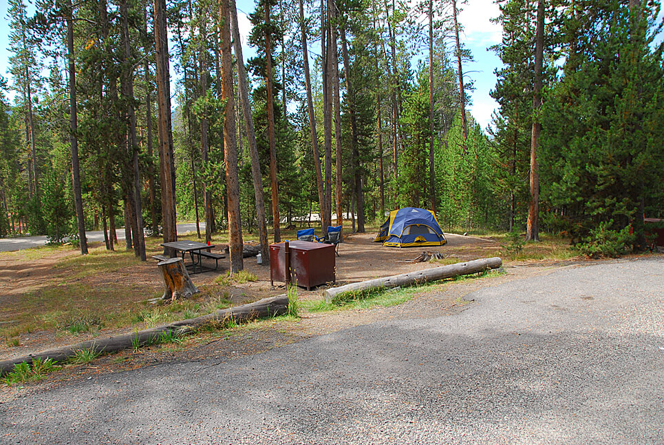 Yellowstone National Park Campsite Photos _Norris Creek