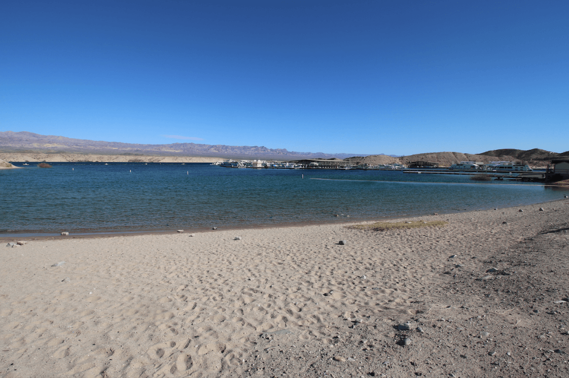 Nevada Camping - Cottonwood Cove Lake Mohave Beach