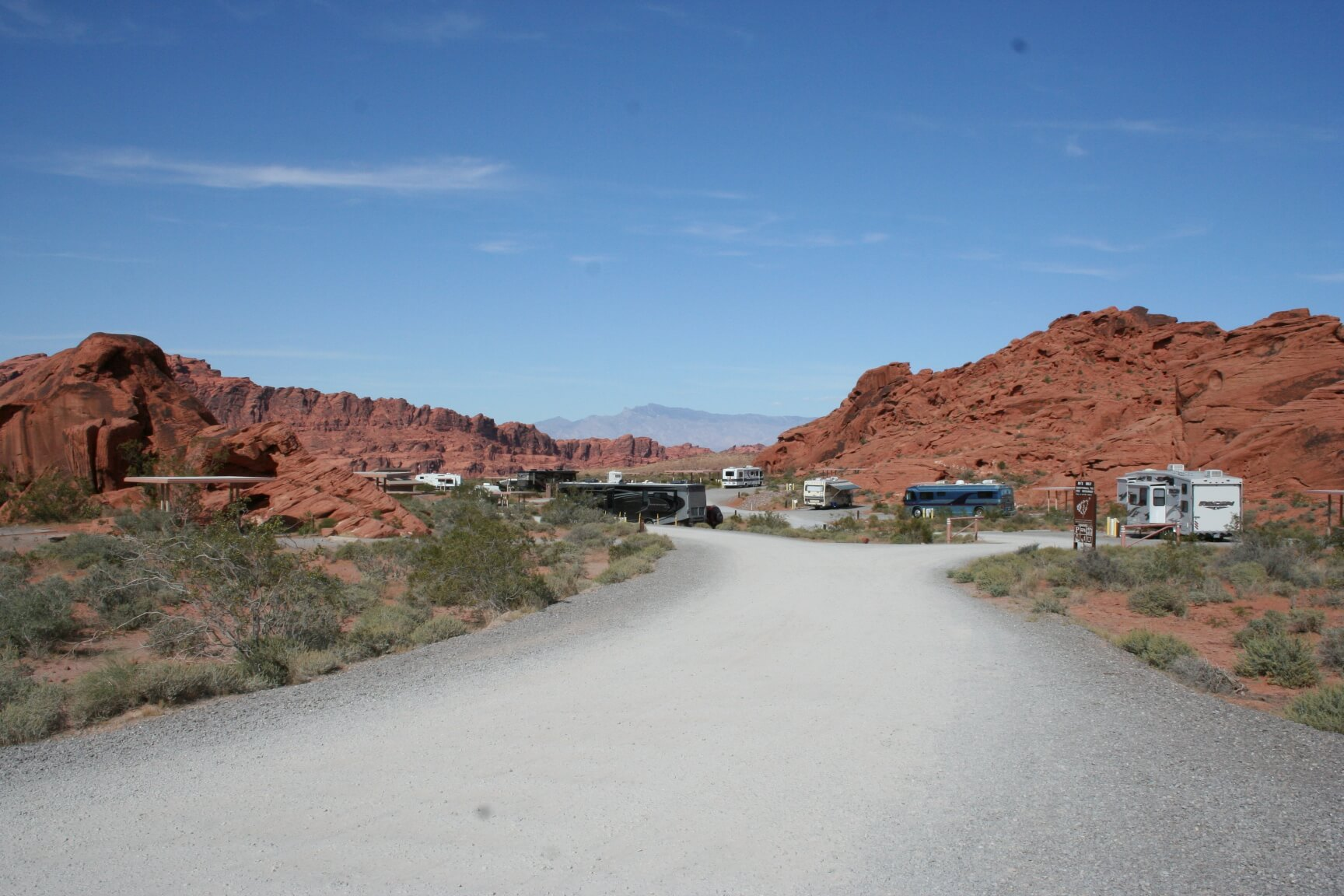 Valley of Fire State Park - Atlatl Campground View