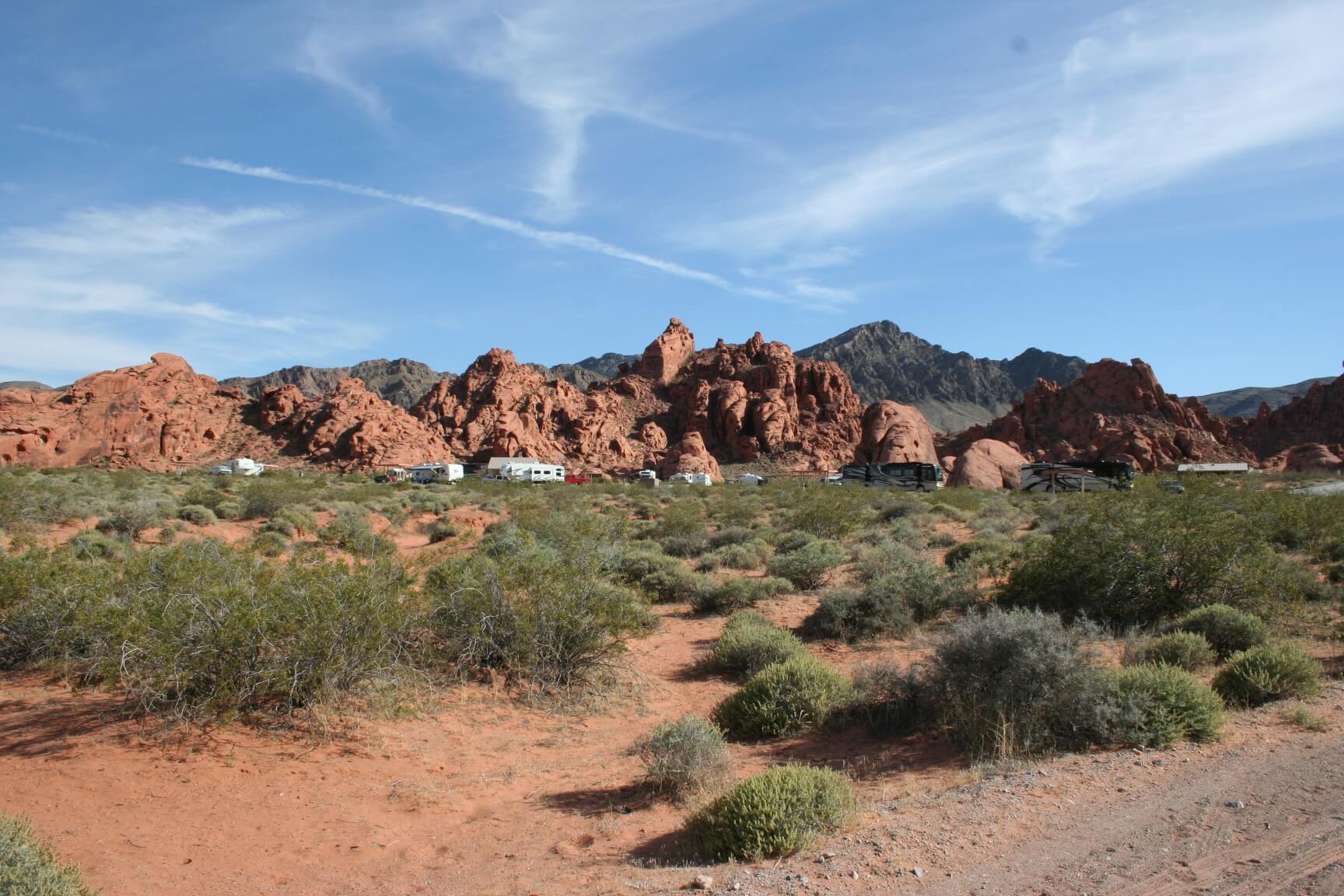 Valley of Fire State Park Arch Rock Campground View