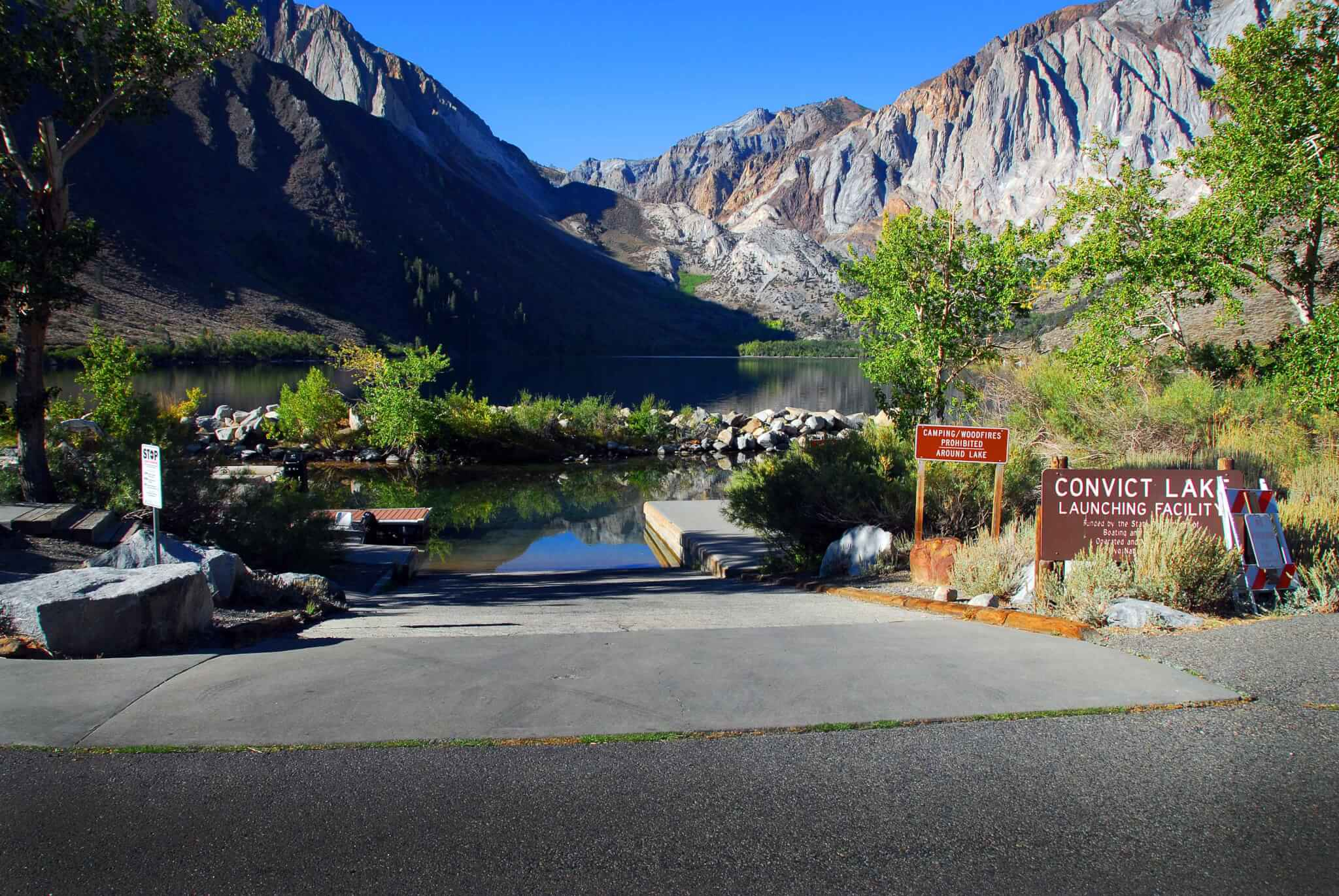 The Best Mammoth Lakes Area Campgrounds Convict Lake Boat Ramp