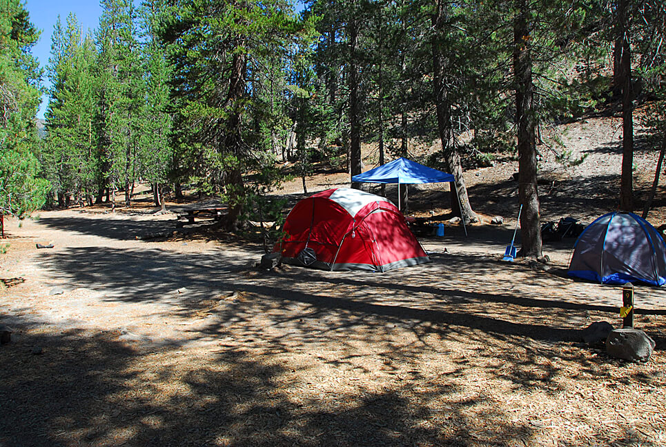 The Best Mammoth Lakes Area Campgrounds Minaret Falls Campsite 9
