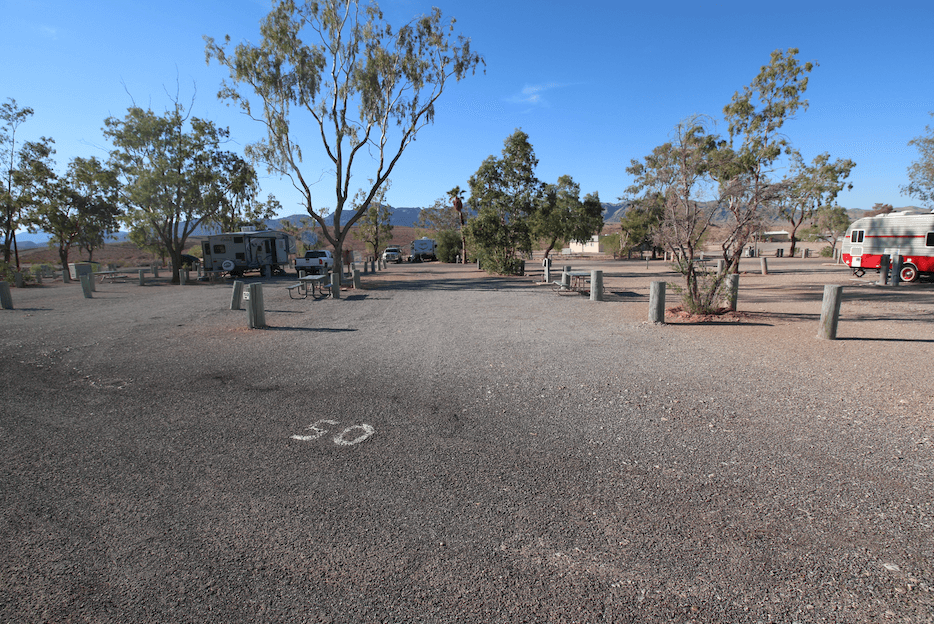 Lake Mead National Recreation Area Campgrounds-Lake Mead RV Village Site 50