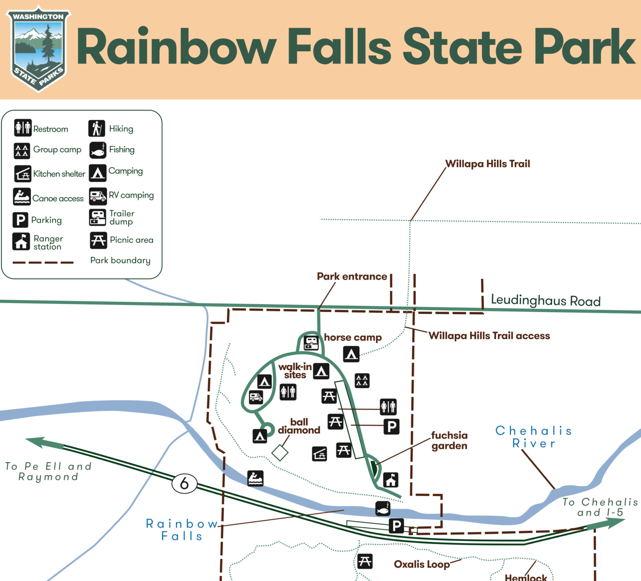 Camping Washington State Map.Rainbow Falls State Park Campsite Photos Info Reservations