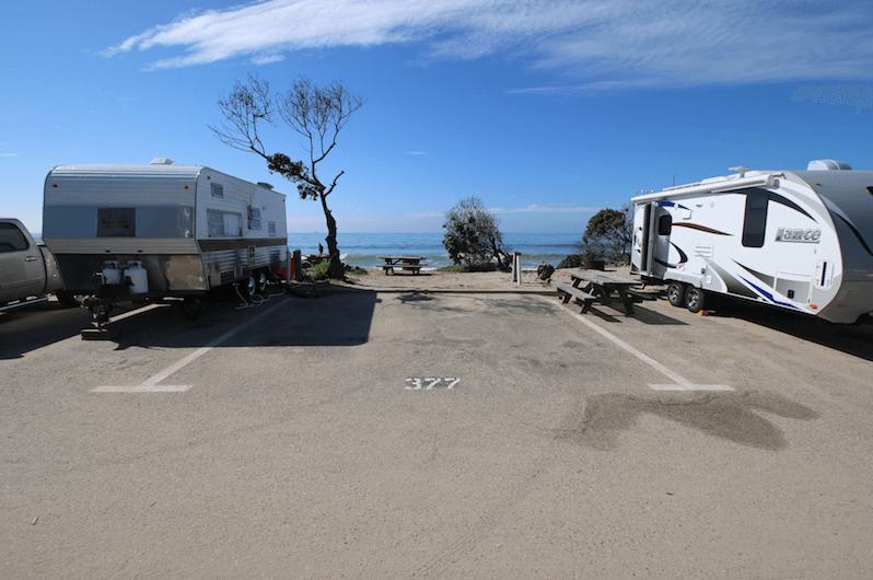 Best Santa Barbara Campgrounds-Carpinteria State Beach Site 377
