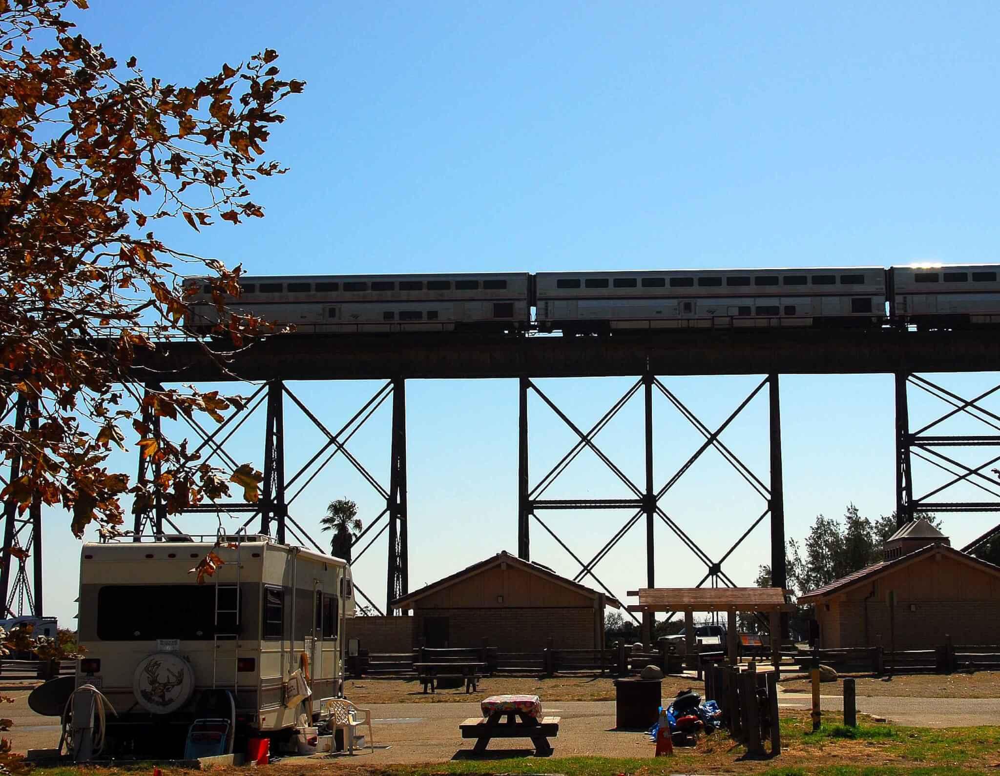 Best Santa Barbara Campgrounds-Gaviota State Park Trestle-Train