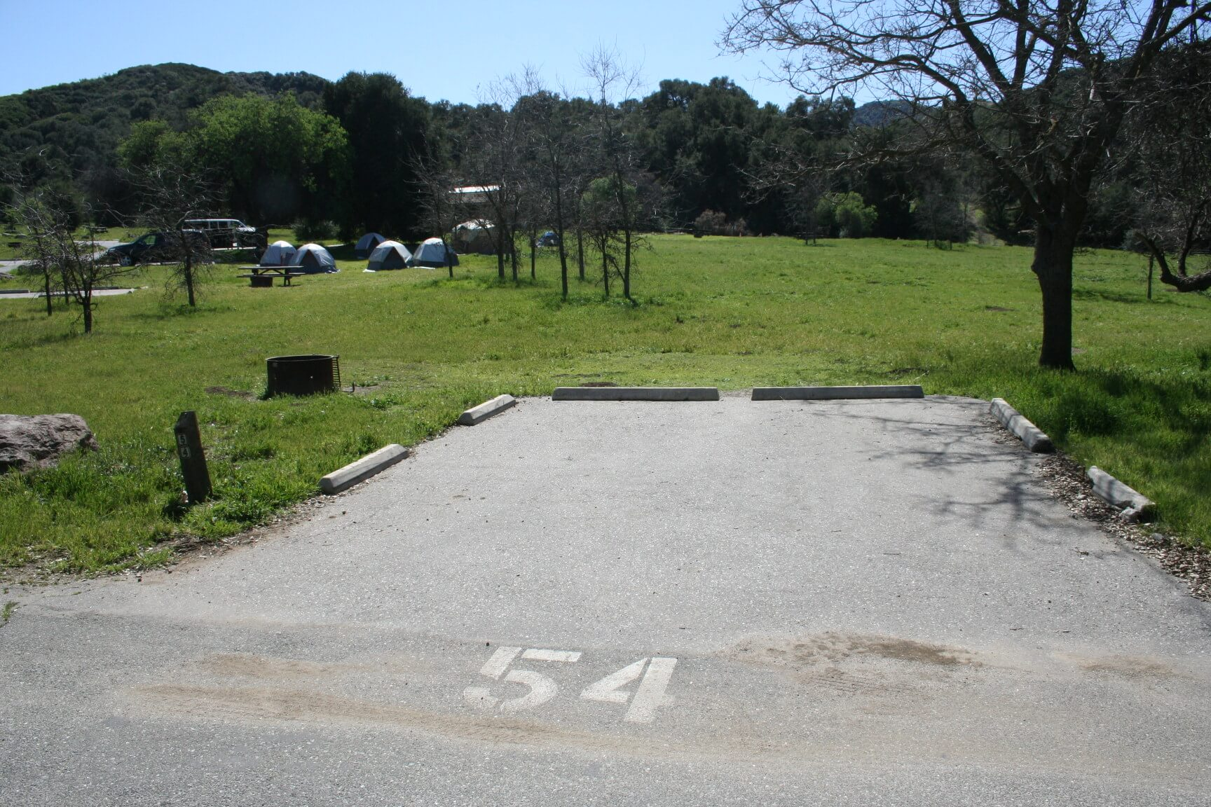 Leo Carrillo & Malibu Creek Campgrounds Are Now Open For Camping - Malibu Site 54 Before Fire