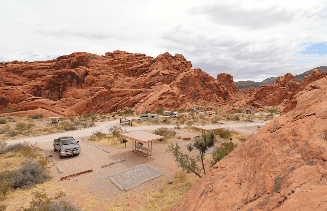 Updated Valley of Fire State Park Campsite Photos - Arch Rock Campground