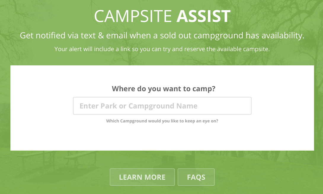 Get A Campsite Availability Notification - Campsite Assist