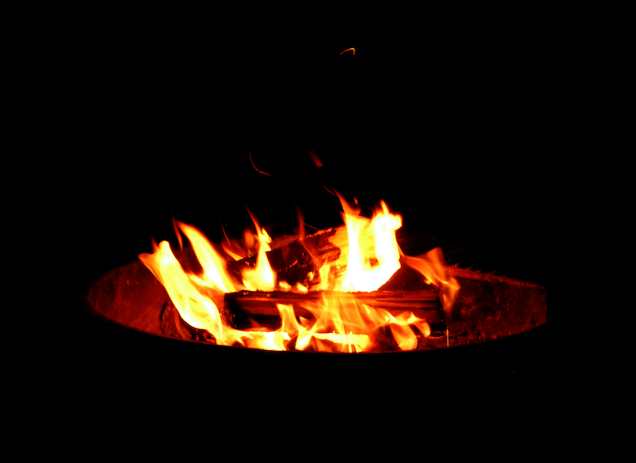 Romantic Camping Trip - Campfire