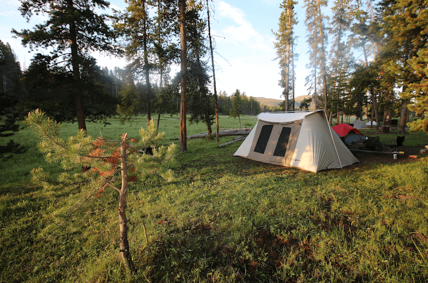 Romantic Camping Trip - Campsite