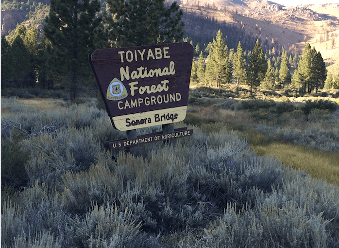 The Best Campgrounds Near Bridgeport-Sonora Bridge Sign